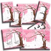 Japanese Sakura Tree Cherry Blossom Light Switch Cover Plate Outlet Room Decor - $9.99+