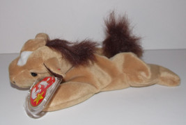 Ty Beanie Baby Derby Plush Horse 8in Stuffed Animal Retired with Tag 199... - $19.99
