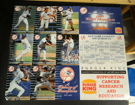 MLB New York Yankees Commemorative Uncut Sheets of Baseball Cards, 1998  - $29.96