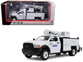 RAM 5500 Komatsu with Maintainer Service Body White 1/34 Diecast Model Car by F - $125.99