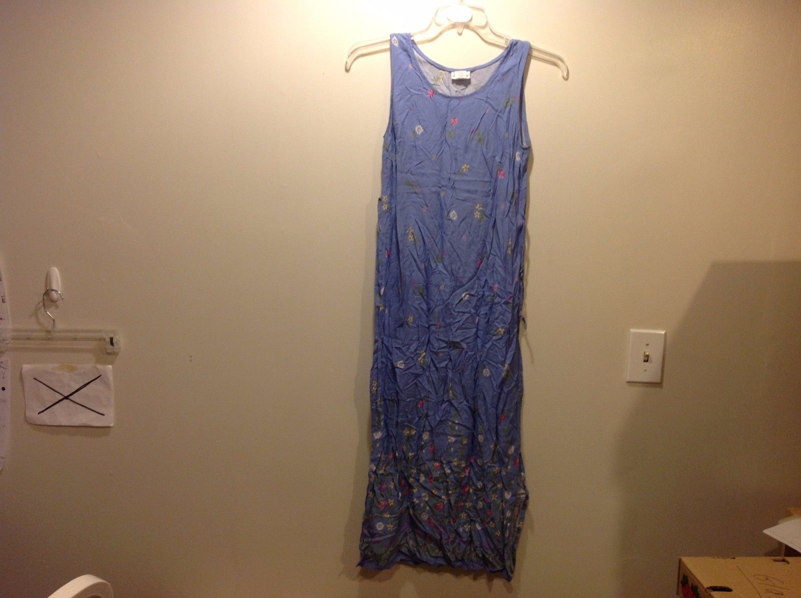Darian Lavender Periwinkle Sleeveless Floral Dress Sz 6