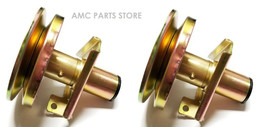 2 Spindle Assemblies Replace John Deere AM128048 AM126112 Has Grease Fit... - $80.14