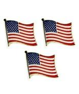 Lote de 3 Americana Bandera Pins de Solapa 1.3cm Estados Unidos EE.UU. S... - $6.87