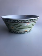 "Set Of 3 Temptations Old World Green Melamine 9"" 10"" 11"" Mixing Bowls NEW - $27.72"