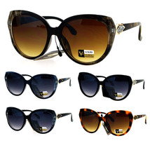 Womens Rhinestone Rock Candy Glitter Hinge Large Butterfly Sunglasses - $12.95