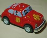"Japan Vintage Tin Toy New Sanko Friction 5"" Volkswagen Red Beetle Chief FD Car"