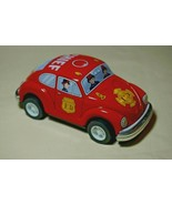 """Japan Vintage Tin Toy New Sanko Friction 5"""" Volkswagen Red Beetle Chief FD Car - £14.77 GBP"""