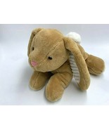 Spark Create Imagine Tan White Plush Crinkle Ribbed Texture Bunny Rabbit... - $14.99