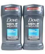 2 Dove 2.7 oz Men Care Clean Comfort Non Irritant Antiperspirant 48h Pro... - $20.99