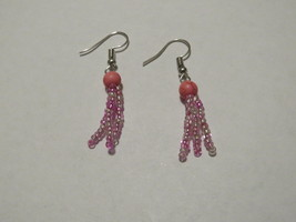 Pink dangle earrings  - $6.00