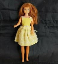 "Vintage Skipper Doll with Yellow Dress 1963 9"" Mattel - $9.96"