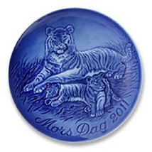 "2011 New Bing & Grondahl B&G Mother's Day Plate "" Tigress with Cubs "" In... - £34.52 GBP"