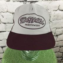 Dewald Northwest Trucker Hat Grey Wine Colored Mesh SnapBack Vintage - $17.82