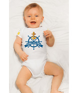 Daddys First Mate Onesie, First Fathers Day Boating themed One Piece Romper - $11.99+