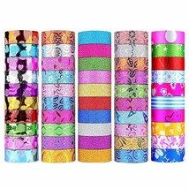 WEfun Glitter Washi Tape,50 rolls Decorative Tape for Arts and Crafts, S... - $12.54