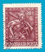 Hungary (used) Semi-Postal Stamp (1943) 20+2 Musketeer   Scott Cat #B162 - $1.99
