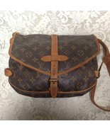 Louis Vuitton Brown Mono Coated Canvas Sac Plat Shopper-Tote 14.5in x 14... - $474.95