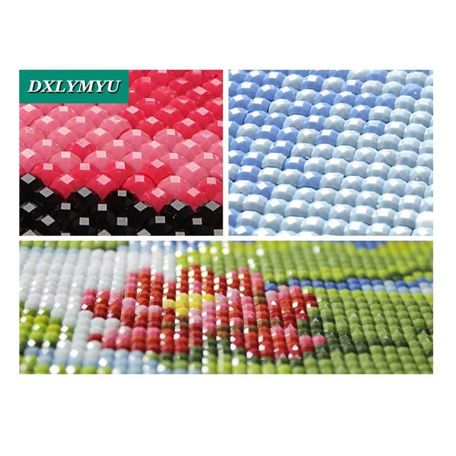 DIY Diamond Painting Umbrella under the couple Needlework Full Square Resin Diam