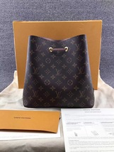 100% Authentic Louis Vuitton Monogram Neonoe Bucket Bag Pink Receipt Mint image 1