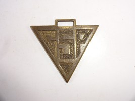 Vintage Triangle shaped brass GSP Tools? Collectible Watch Fob No strap - $12.24