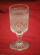 Vintage Wexford by Anchor Hocking Diamond Point Claret Goblet Wine Juice... - $9.89