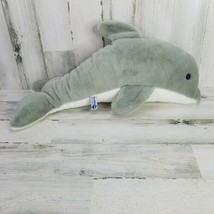 Vtg 1991 Sea World Gray White Dolphin Plush Stuffed Animal 21 Inches Long - $19.39