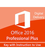 Microsoft Office 2016 Professional Plus 32/64 Bit Key & Download - $228,25 MXN