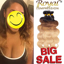 Ombre Brazilian Hair Body Wave 3 Bundles,Ombre Brazilian Virgin Hair 10A... - $113.70