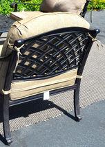 Nassau patio furniture set outdoor fire pit propane table 5 piece dining Bronze image 6