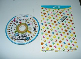 New Super Mario Bros. U (Wii U, 2012) - DISC & Instruction Booklet Gener... - $19.68