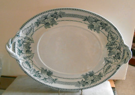 Ironstone Transferware Tureen Underplate Green Exeter John Meir & son 1867 - $60.78
