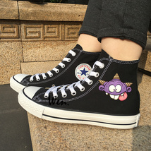 Men Women Chuck Converse Design Tiny Cute Cartoon Monsters Canvas Black ... - $119.00