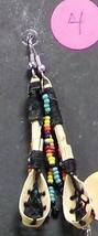 Native American HandMade Dangle Beaded Ballstick Ball Stick Earrings Sem... - $27.99