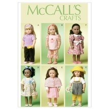 McCall's Patterns M6526 18-Inch/46cm Doll Clothes, One Size - $14.21