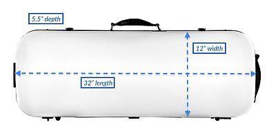 Tonareli Viola Oblong Fiberglass Case - White VAFO 1000 - Includes attachable...