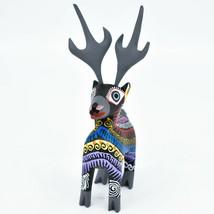 Handmade Alebrijes Oaxacan Copal Wood Carving Folk Art Deer Reindeer Figurine image 2