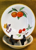 "*2* Royal Worcester EVESHAM GOLD - Soup/Cereal Bowls 6 5/8"" - Orange Che... - $39.59"