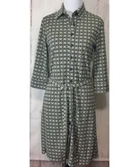 Express Dress Button Down Sz 5/6 3/4 Collared Belted 3/4 Sleeve Career - $33.98