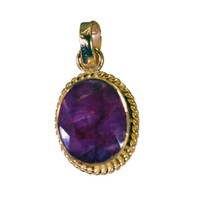 Fashion Gold Plated Indi Ruby Gemstone Pendant Jewelry FMU29MJP54 - $10.89