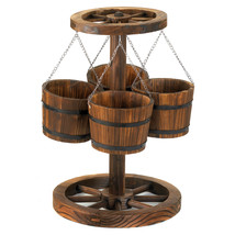 Wagon Wheel Planter 10012691 - $1.984,42 MXN