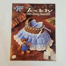 Teddy Tote Along Bassinet & Playset Annie's Attic Crochet Patterns  - $12.16