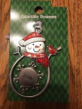 "Christmas Tree Ornament Snowman ""Leah"" Vintage Rare Ships N 24h - $11.86"