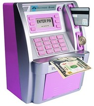 LB ATM Savings Bank for Kids,Pink Personal ATM Cash Coin Money Savings M... - $58.09