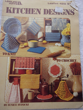 Leisure Arts Leaflet 429 Kitchen Designs To Knit & Crochet 1986 - $2.99