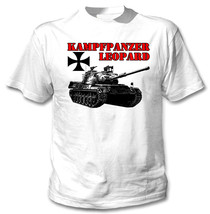 Kampfpanzer Leopard Germany Wwii - New Cotton White Tshirt - $24.48