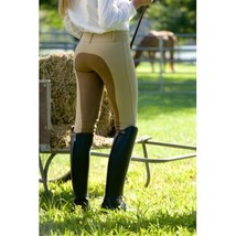 Devon-Aire Ladies All Pro Full Seat Breeches Size 24 Long Black Charcoal image 2