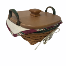 Longaberger Tree Trimming Collectors Wooden Basket Tinsel From 2005 With... - $47.19