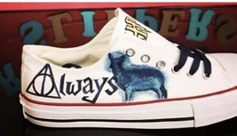 harry Potter shoes,for her, birthday present, Always handpainted shoes  - $100.00