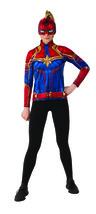 Women'S Costume Captain Marvel Hero Top And Headpiece,X-Small - $27.69