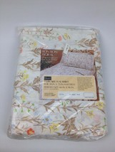 VTG Sealed NEW Twin Flat Bed Sheet Perma Prest Muslin Bon Bon Floral Sears NOS - $12.57